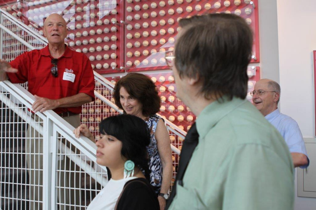 Greg Rhodes leading Cincinnati Reds Hall of Fame tour