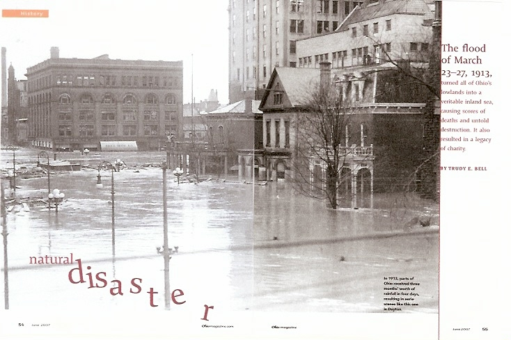 Natural Disaster, Ohio magazine, June 2007 - popular article about Ohio's worst natural disaster