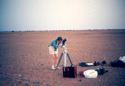 observing a dawn grazing lunar occultation from the Sahara Desert in Mauritania, Aftica