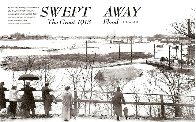 Cover story in Timeline of the Ohio Historical Society, Jan-Mar 2009 - turned the lowlands of Ohio into turbulent inland seas all across the state